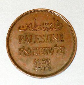 Israel-Palestine-British-Mandate-1-Mil-1939-Coin-XF