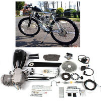 80cc Bike Bicycle Motorized 2 Stroke Cycle Silver Motor Engine Kit