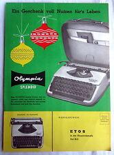 Werbe Prospekt - OLYMPIA Schreibmaschinen