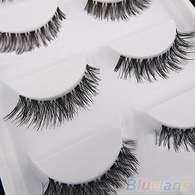 5 Pair Sweet Style Long Cross False Eyelash Cosmetic Soft Eye Lash Extension New