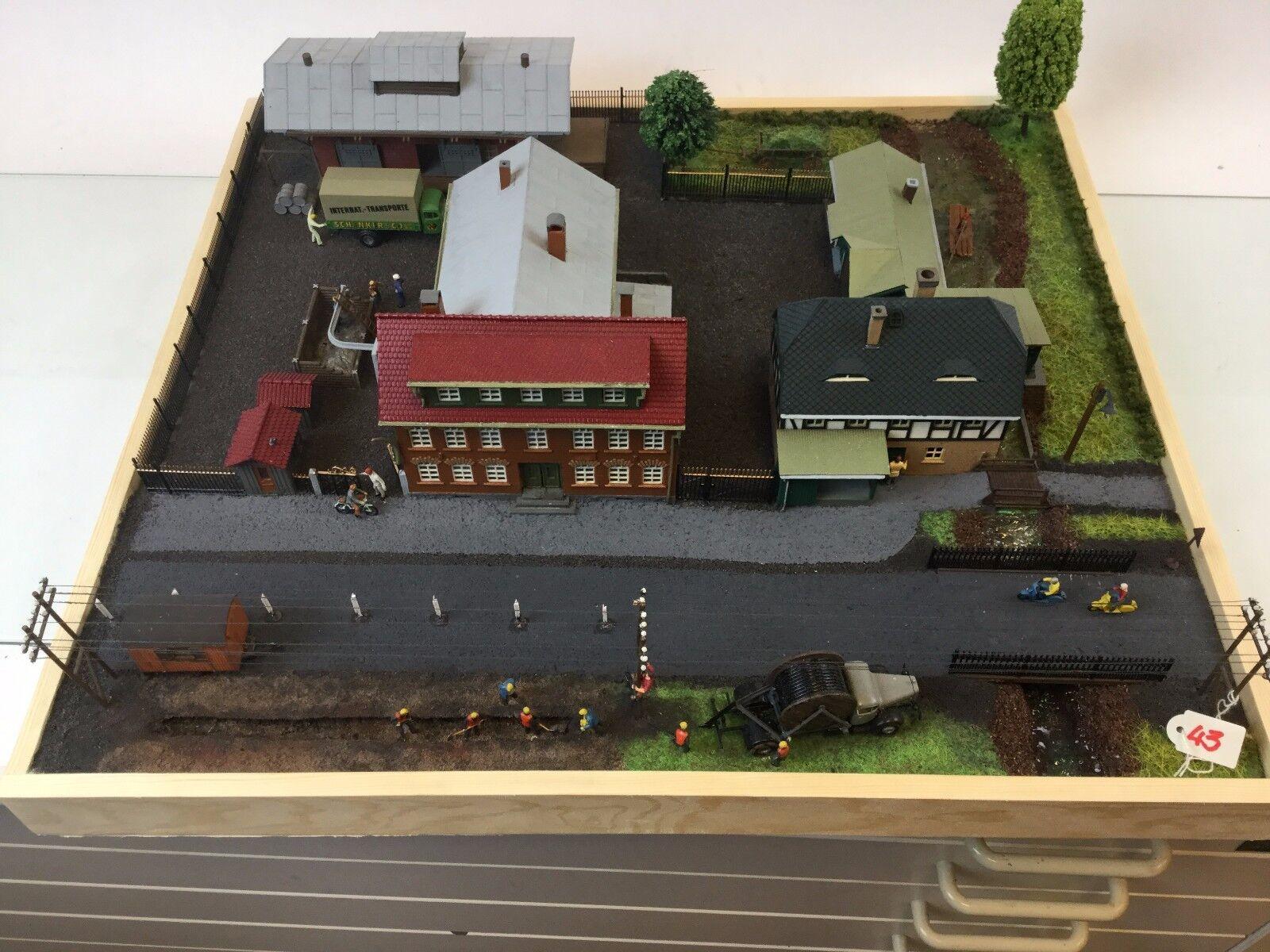 H0-Diorama   Erdkabel   Größe  53 x 48 cm