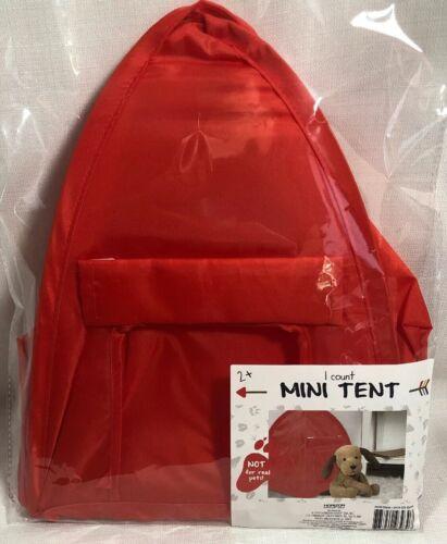 Mini Pop Up Tent for Dolls Plush Stuffed Animals Pretend Play Display New Red