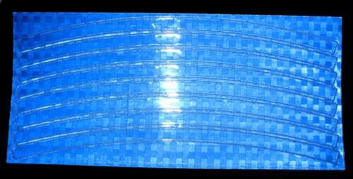 10pcs//set Mountain Reflective Stickers Bicycle Wheel Rim Decals Color Randomly