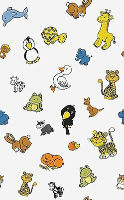 2mtr KIDS NURSERY CHILDRENS ANIMALS STICKY BACK PLASTIC SELF ADHESIVE VINYL FILM