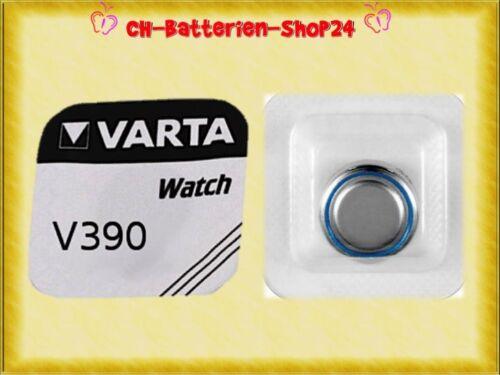 2 x Varta V390 SR1130SW SR54 AG10 Silberoxid Uhrenknopfzelle Batterien