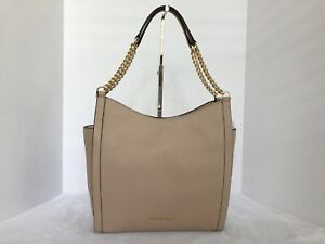 b973e02e1cf1 Image is loading MICHAEL-Michael-Kors-Newbury-Leather-Medium-Chain-Shoulder-