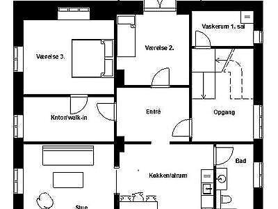 6100 vær. 4 lejlighed, m2 144, Ny Allegade