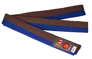 Ju-Sports Budo-Gürtel blau/braun  Karate - Judo - Ju-Jutsu - Taekwondo-Gürtel