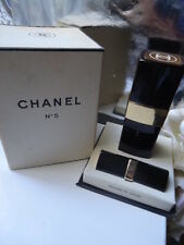 CHANEL No5 RARE VINTAGE 1950s PARFUM 7ml & BLACK FLACON 1.5oz COLOGNE BOX SET