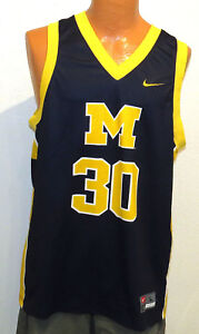 vtg-LAVELL-BLANCHARD-30-Nike-Michigan-JERSEY-LARGE-wolverines-made-2000-blue-L