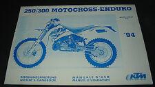 Bedienungsanleitung KTM 250 / 300 Motocross Enduro Owner´s Handbook 1994!