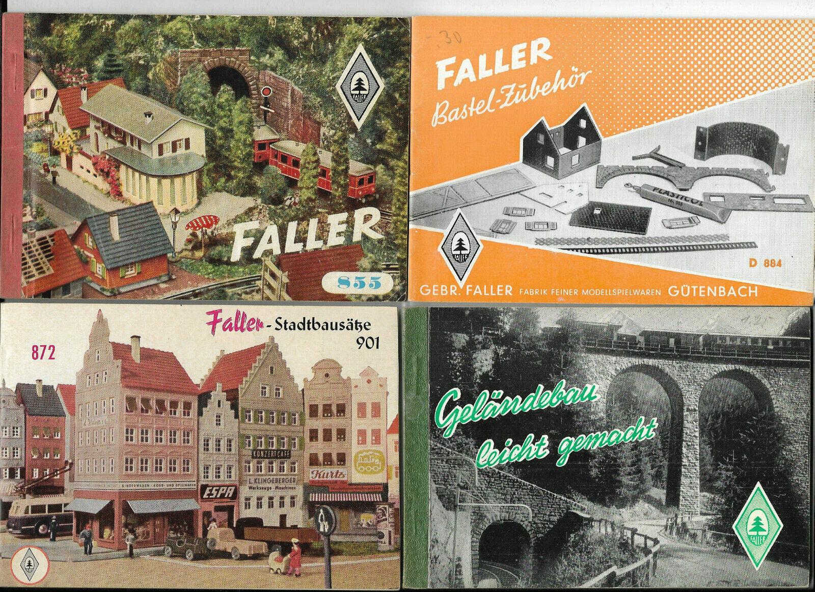 Faller  4 catálogos folletos de los años 50er