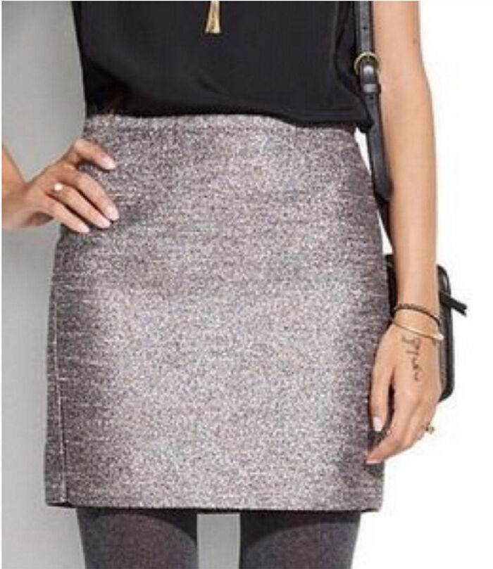 98 NWT madewell Broadway & Broome Women's Pink Simmer Mini Skirt  Size 0