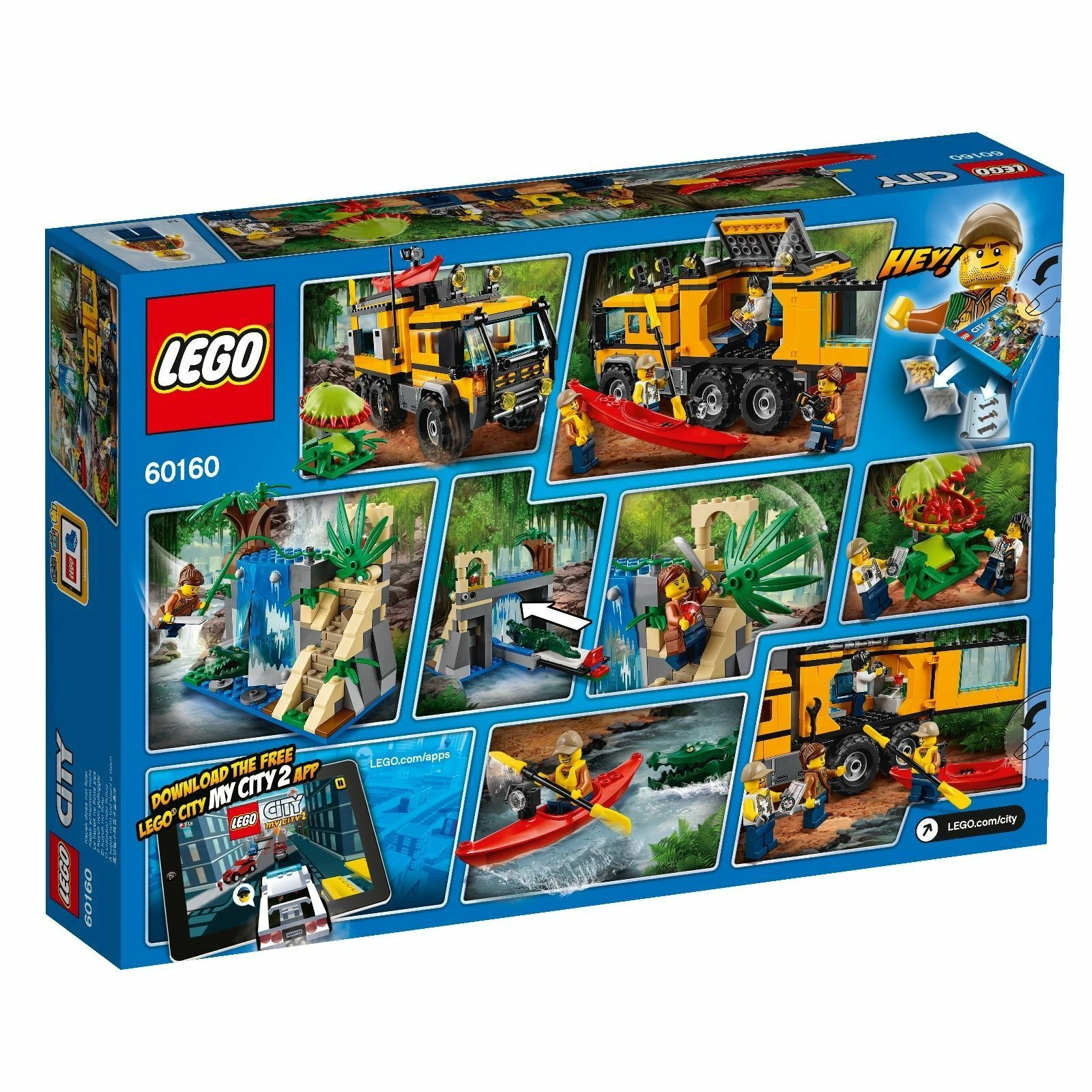 LEGO ® ® LEGO City 60160 Mobile jungle-Laboratoire Nouveau neuf dans sa boîte _ JUNGLE mobile Lab New En parfait état, dans sa boîte scellée 94f1fd
