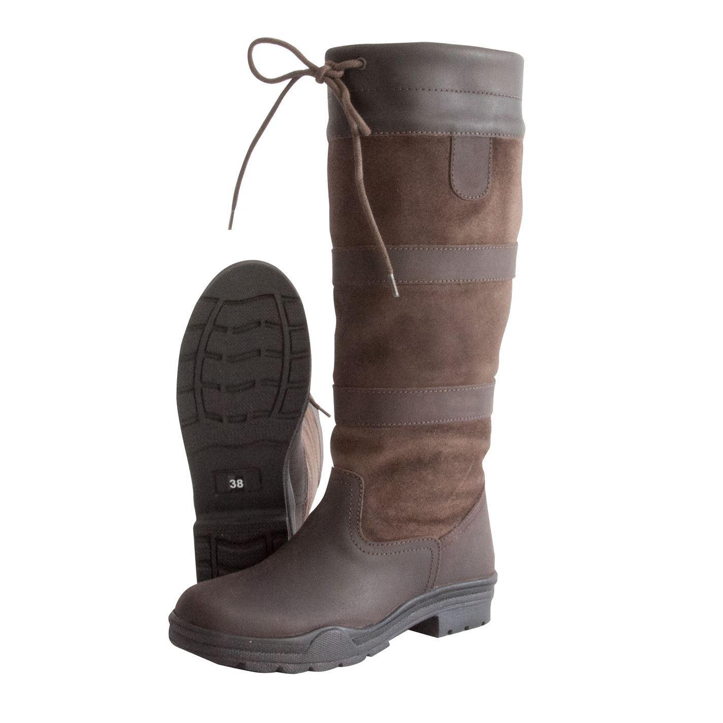 Botas para mujer Granger necesarias Damas Cordones Botas De Montar Cordones Damas país 4-8 27dc50
