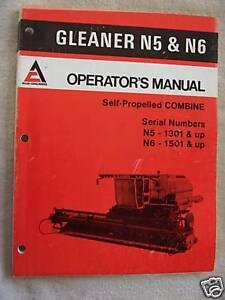 1979 gleaner n5 ser1301 up n6 combine operators manual ebay image is loading 1979 gleaner n5 ser1301 up amp n6 combine publicscrutiny Images
