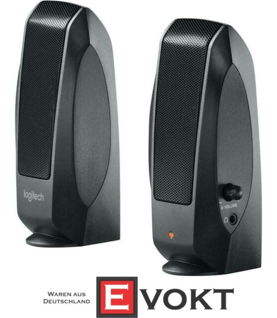 Tablet or MP3 new Logitech S-120 Stereo Speakers for Laptop Smartphone TV