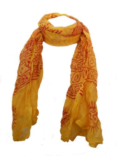 Commerce équitable à main en coton imprimé indien ram nami écharpe
