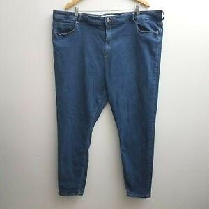 ASOS-Womens-Jeans-Blue-Denim-Stretch-Ankle-Length-Skinny-Plus-Size-22-UK-26
