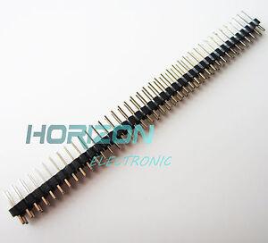 5PCS Single Row 40Pin 2.54mm Round Male Pin Header machined J8