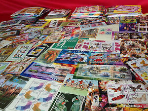 Worldwide-Foreign-Souvenir-Sheets-Stamp-Collection-Lot-8-DIFFERENT-SHEETS