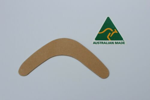 qty 8 Australian Made 23cm blank timber boomerang shape-3mm ready to paint