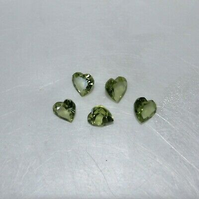 Peridot Strang ~ faceteados lente ~ 4,5 hasta 5 mm per-41