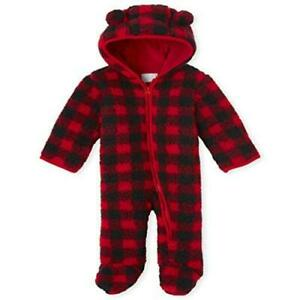 The Children's Place Baby Boys' Bunting Snowsuit, Classicred, Size 6.0 gZcd