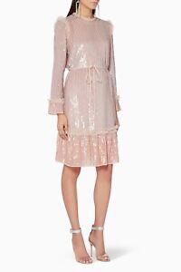 Needle-and-Thread-GLOSS-SEQUIN-DRESS-light-Pink-Medium-UK-Size-12-14