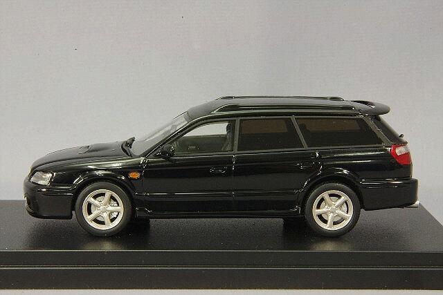 Modelo de resina de 1 43 Hi Story Subaru Legacy Touring Wagon GT-B E-Tune II 2001 Negro