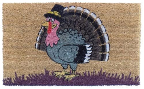 """THANKSGIVING TURKEY COIR DOORMAT DOOR MATS WELCOME MAT 18/"""" X 30/"""""""