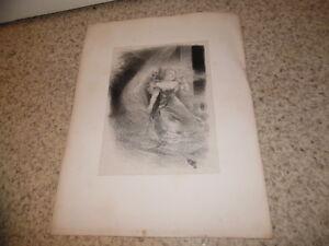 1895-Lithographie-en-chine-serenade-Triste-Alphonse-Willette