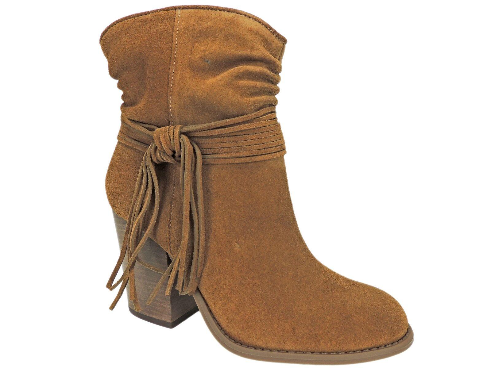 Jessica Simpson Mujer Sesley Bloque Bloque Bloque Talón Botines Canela marrón botas talla 6.5 M  conveniente