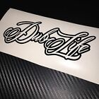 GLOSS BLACK Dub Life Car Sticker Decal VDUB VW BUG BUS