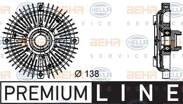 8mv 376 732-231 HELLA EMBRAGUE, ventilador del radiador