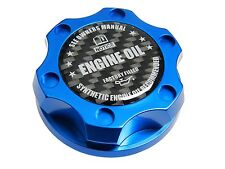 BLUE SYNTHETIC BILLET RACING ENGINE OIL FILLER CAP FOR 05-12 FORD MUSTANG CF