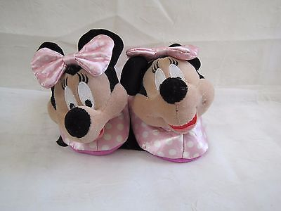 Toddler/'s Girls Disney Minnie Mouse Slippers House Shoes 99073 Pink 130B New