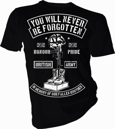 We Will Remember Them Remembrance Army Adult and Kids t-Shirt Military