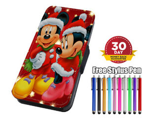 Merry-Christmas-Micky-amp-Minnie-Flip-Phone-Case-for-iPhone-amp-Samsung-amp-Huawei