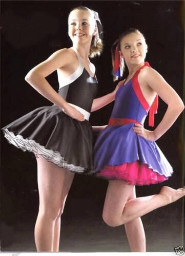 Funky Swing Modern Jazz Tap Tutu Dance Costume all size