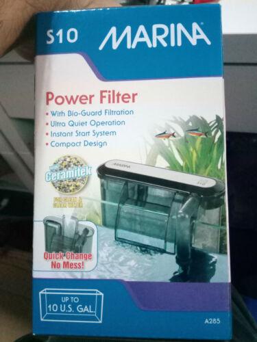 Filtro de Mochila Marina Slim S10 Filtro de Cascada para Acuarios y Peceras 38 L