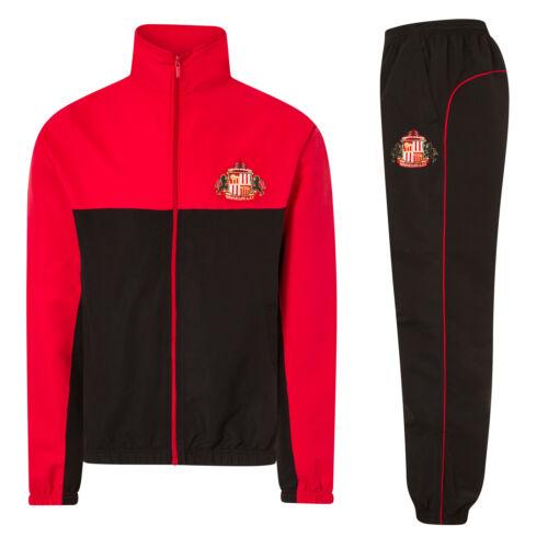 Jacke /& Hose Sunderland AFC Herren Trainingsanzug Offizielles Merchandise
