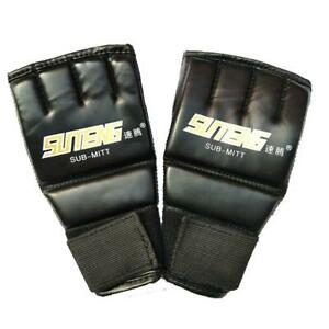 PU-Halbhandschuhe-MMA-Muay-Thai-Training-Stanzen-Sparring-Boxhandschuh-Mode-R1S0