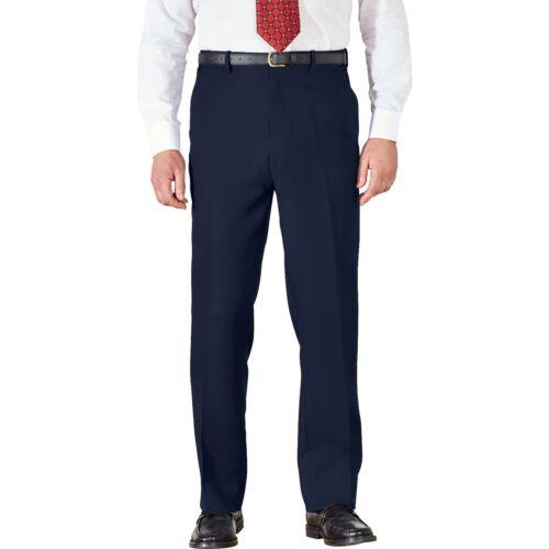NUOVO uomo elastico in vita Formale Pantaloni Chino BHS Cotone Gamba Dritta Regolare Pantaloni