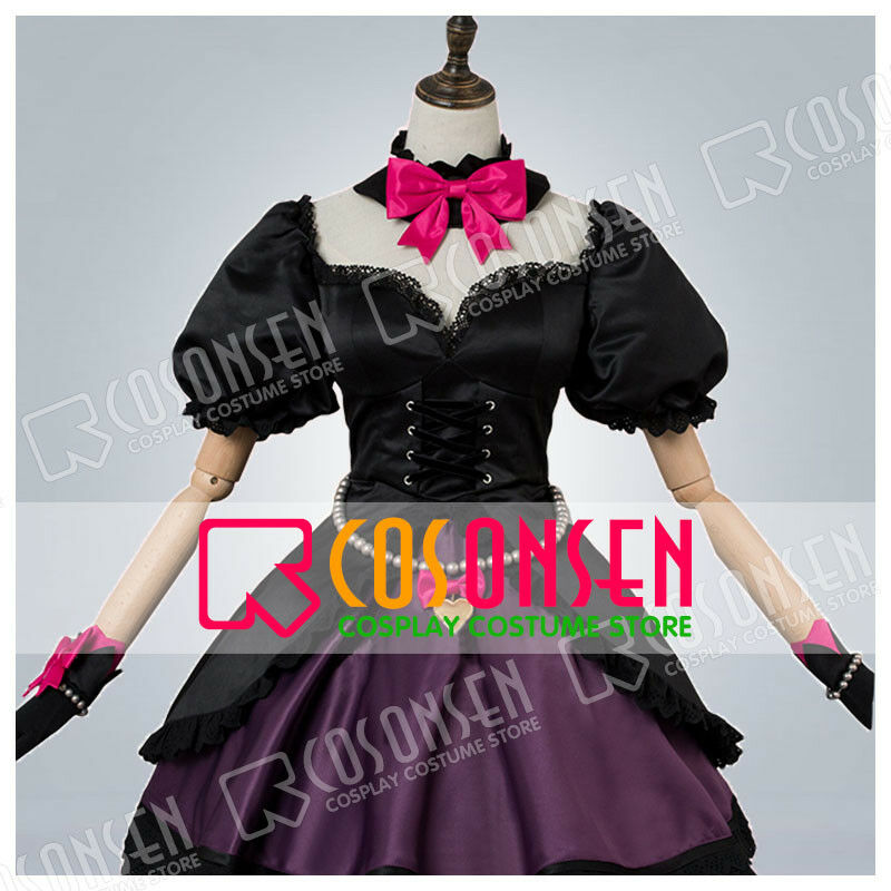 Luna Song Hana Lolita Dress Cosplay Costume Cosonsen D.Va Black Cat Skin Ver