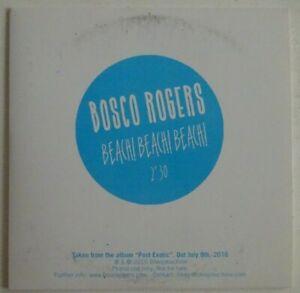 BOSCO ROGERS : BEACH ! BEACH! BEACH! ♦ CD SINGLE PROMO ♦