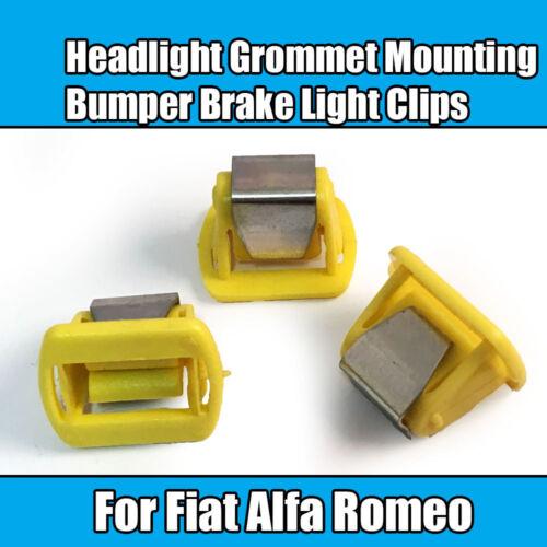 10x CLIPS POUR FIAT ALFA ROMEO phare Oeillet de Fixation de Pare-Chocs Feu Stop Clip