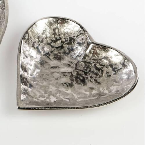 assiettes alu organic d DECO herzschale 17 cm argent métal d/'Art Formano