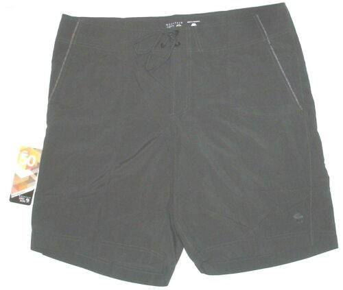 NWT mens MOUNTAIN HARDWEAR Mesa Crossing shorts UPF 38 40 gray nylon hike NEW