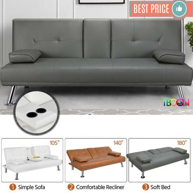Seat Faux Leather Loveseat, Faux Leather Loveseat Sofa Bed